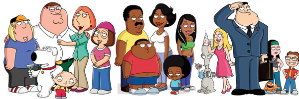 Family Guy And American Dad Comparison The Simpsons Br...
