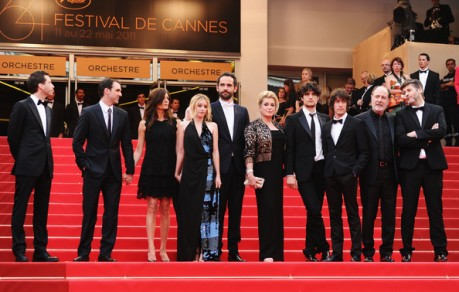 The cast of Beloved assembles with director Christophe Honoré at Cannes. But behold: there is only room for Catherine Deneuve on the red carpet when Catherine Deneuve is on the red carpet.