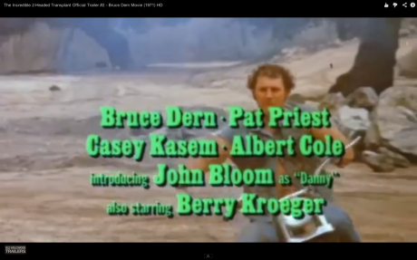 The esteemed cast credits roll over a chain-swinging biker who is not long for this world.