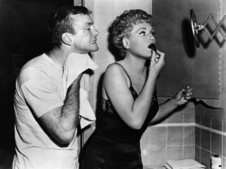Aldo Ray and Judy Holliday in The Marrying Kind
