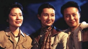 Michelle Yeoh as Ai-ling (Madame Kung), Maggie Cheung as Ching-ling (Madame Sun), and Vivian Wu as Mai-ling (Madame Chiang).