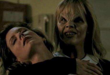 Darla frames Angel by biting Joyce.