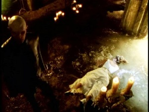 What are the series' most iconic images? I'm going to go with Buffy dead face-down in the pool as my nomination from s1. Other suggestions?