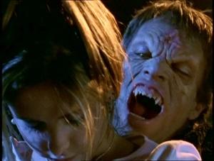 Luke fixing to bite Buffy