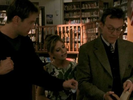 Giles must compete with an Emily Dickinson fanboy for Buffy's attention.