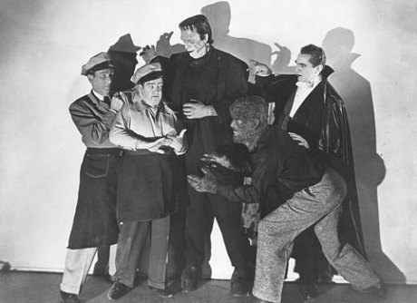 The cast from Abbott and Costello Meet Frankenstein, a Saturday afternoon standard from my childhood.
