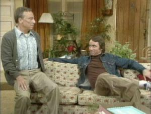 Jack Tripper toys with Mr. Roper's discomfort around homosexuals. Oh, Stanley!
