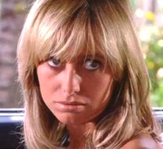 Buffy does look a bit like the extraordinary seventies sexpot Susan George here, though Buffy's blonde is just too harsh.