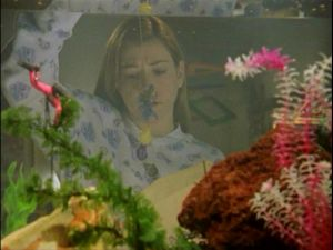 Angelus leaves envelopes at the bedside of his targets. Willow finds her tropical fish on a line in hers.