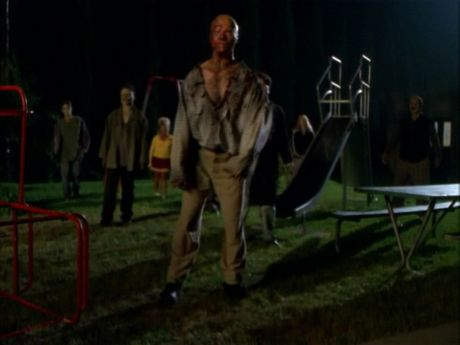 Zombies on the march. Where is the playground in relation to Buffy's home in Sunnydale anyway? We seem to go there a lot.