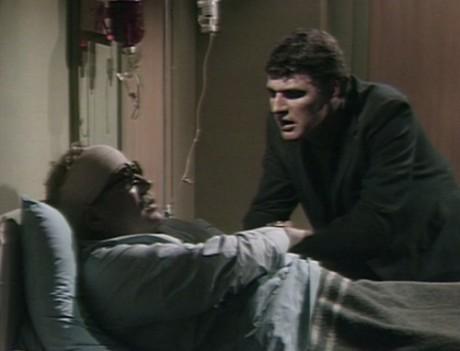 Adam says farewell to his saviour Sam at the hospital.