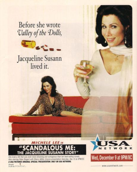 Michele Lee as Jacqueline Susann in Scandalous Me.