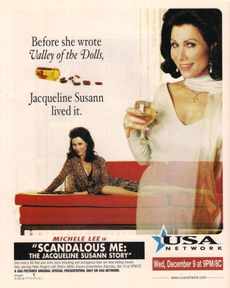Michele Lee as Jacqueline Susann in Scandalous Me.