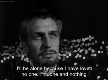 Vincent Price, godless and alone, in Song of Bernadette.