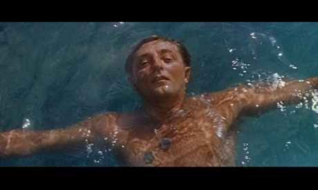 Just a few seconds of Mitchum floating languorously leaves no question as to where the sex lies in this story.